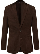 J.Crew Brown Ludlow Slim-fit Cotton-corduroy Blazer - Brown