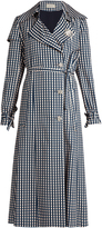 Preen by Thornton Bregazzi Jette gingham-print twill trench coat