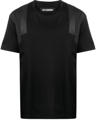 Les Hommes contrasting shoulder panel T-shirt
