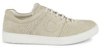 Salvatore Ferragamo Cult 4 Woven Suede Low-Top Sneakers