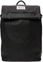Maison Margiela Black Leather Numbers Backpack
