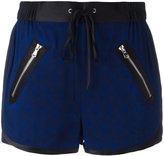 3.1 Phillip Lim satin-trimmed damask shorts - women - Silk/Acetate/Viscose - 4