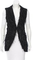 Vera Wang Fringe-Trimmed Notch-Lapel Vest