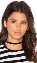 Vanessa Mooney Velvet Dagger Choker in Black.