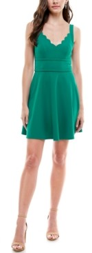 City Studios Juniors' V-Neck Skater Dress