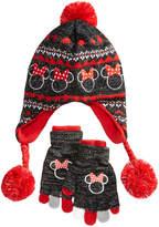 Berkshire Disney's Minnie Mouse 2-Pc. Heidi Hat & Adjustable Gloves Set, Little Girls & Big Girls