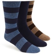 Sperry Men's 'Soft Extreme' Rugby Stripe Crew Socks