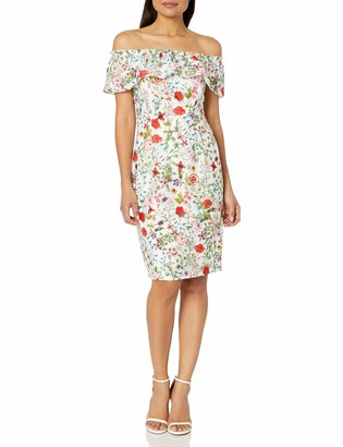 Adrianna Papell Women's Bloom Printed Off Shoulder
