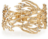 Lydell NYC Crystal Branch Hinged Cuff Bracelet