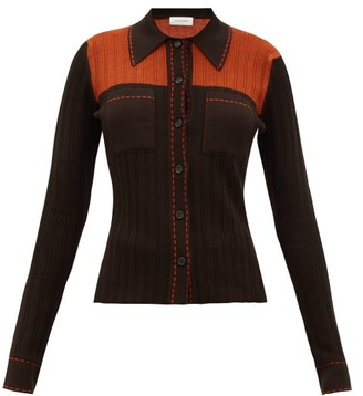 Wales Bonner Knitted Shirt - Brown Multi