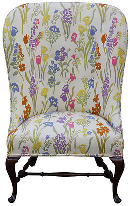 One Kings Lane Vintage 1960s Wingback Chair - Something Vintage