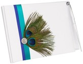 Hortense B. Hewitt Peacock Plume Wedding Collection Guest Book with Pen