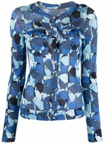 Thumbnail for your product : John Galliano Pre-Owned 2000s Faces Print Buttoned Cardigan