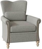 Chloé Armchair Hekman Body Fabric: 1002-083, Leg Color: Antique Vanilla, Nailhead Detail: Brass, Seat Cushion Fill: Extra Firm