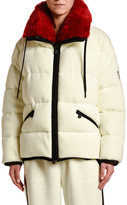 Moncler Oversized Faux-Fur Collar Coat