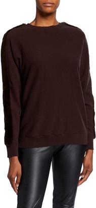 Lafayette 148 New York Cashmere Dolman Sweater with Mink Trim