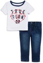 True Religion Infant Boys' Buddha Logo Ringer Tee & Jeans Set - Sizes 12-24 Months