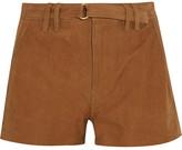 Frame Suede Shorts - Camel