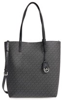 MICHAEL Michael Kors 'Large Hayley' Faux Leather Tote - Black