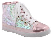Nina Girl's Byrony Iridescent Sequined High-Top