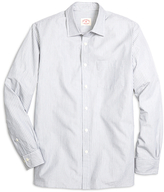 Brooks Brothers Nine to Nine Grey Stripe Sport Shirt