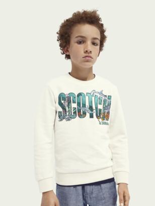 Scotch & Soda Ocean-graphic cotton sweatshirt | Boys