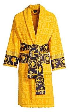 Versace Logo Toweling Baroque Bathrobe