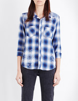 NSF Kimberley check-print cotton shirt