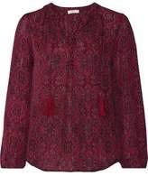 Joie Calla Tasseled Printed Silk Blouse