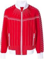 Valentino exposed seam zipped sweatshirt