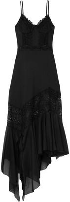 Charo Ruiz Ibiza Briana Crocheted Lace-paneled Cotton-blend Voile Maxi Dress