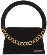 Jacquemus Suede Shoulder Bag W/ Chain Detail