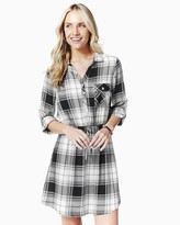 Charming charlie Plaid Cinched Shirtdress