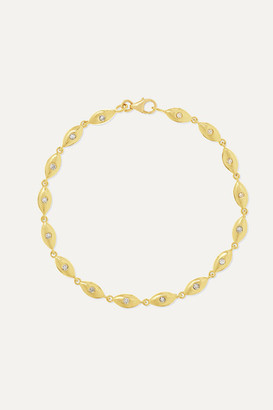 Jennifer Meyer Mini Evil Eye 18-karat Gold Diamond Bracelet - one size