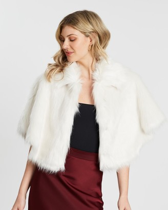 Unreal Fur Women's White Capes - Nord Cape - Size One Size, One size at The Iconic