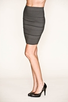 Pleasure Doing Business High-Waisted Four Band Skirt in Pinstripe