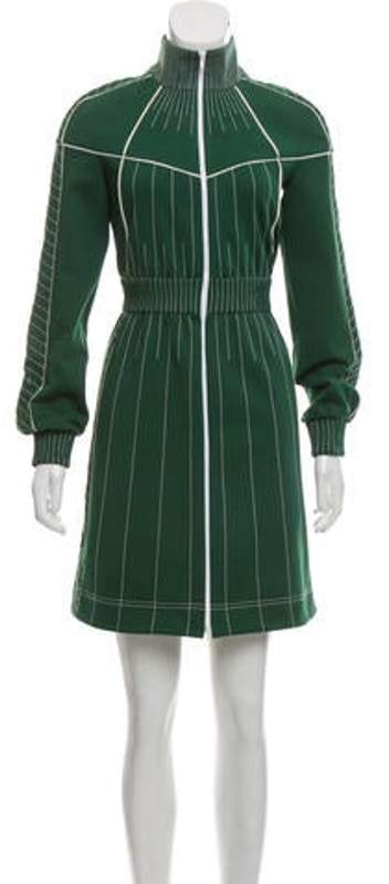 Valentino Zip Mini Dress Green Zip Mini Dress