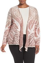 Nic+Zoe Plus Size Women's 'Sunset Coral' Four-Way Convertible Cardigan