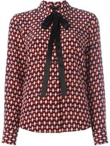 Marc Jacobs crêpe de chine bow shirt - women - Silk - 8