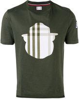 Moncler Gamme Bleu check motif T-shirt - men - Cotton/acrylic acid polymer - S