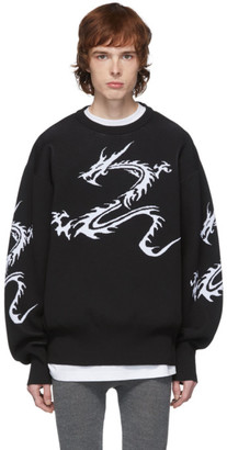 Xander Zhou Black Dragon Sweater