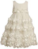 Bonnie Jean rosette dress - girls 7-12