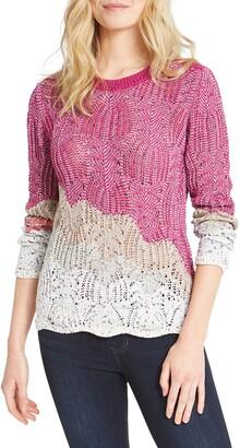 Nic+Zoe Peak Mixed Stitch Sweater