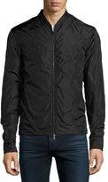 Rag & Bone Nylon Zip-Front Jacket, Black