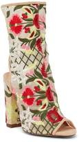 Liliana Sage Floral Embroidered Cutout Boot