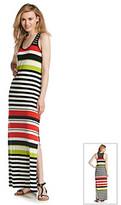 Vince Camuto Colorblock Halter Maxi Dress
