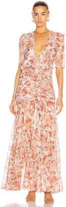 Veronica Beard Mick Dress in Melon Multi | FWRD
