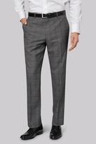 Moss Esq. Regular Fit Charcoal Check Pants
