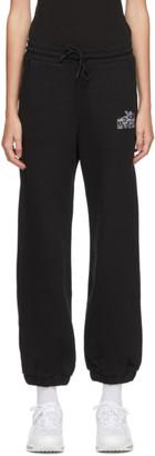 MSGM Black Cupid Logo Lounge Pants