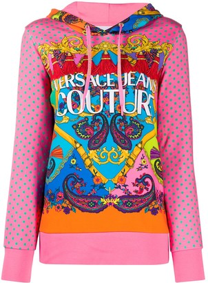 Versace Jeans Couture Mixed Print Hoodie